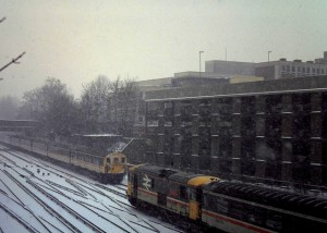 Gatwick Express crossing East Croydon circa 1991
