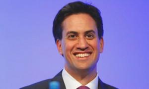 Ed Miliband, smiling